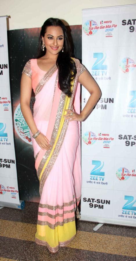 Hot Actress Sonakshi Sinha Latest Saree Stills In Dabangg