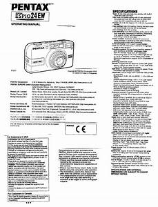 Pentax 24 Ew User Manual Pdf Download