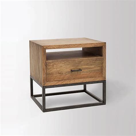industrial nightstand elm