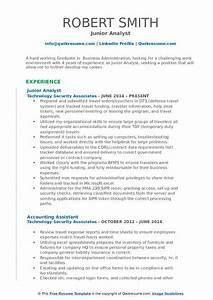 Junior Analyst Resume Samples