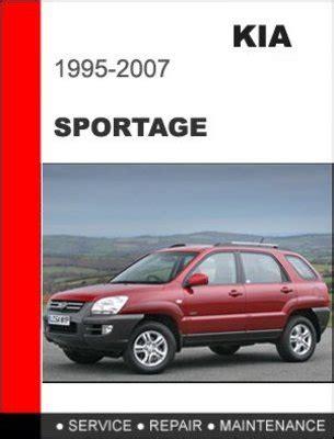 car service manuals pdf 1998 kia sportage regenerative braking 1995 2007 kia sportage factory service repair manual download man
