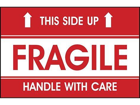side upfragilehandle  care label