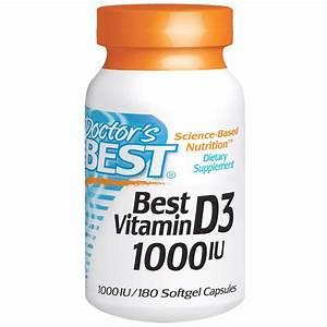 Doctor U0026 39 S Best  Best Vitamin D3  1000 Iu  180 Softgels