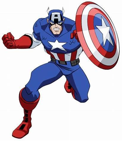 Clipart Superhero America Captain Clip Heroes Superheroes