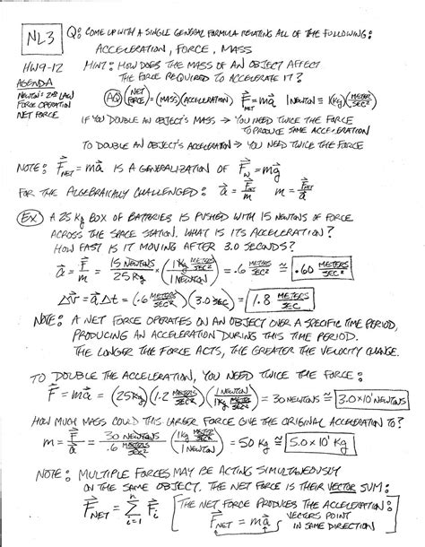 Newton S 2nd Law Problems Worksheet Answers Breadandhearth
