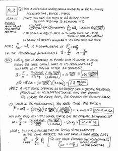 Net Force And Newtons Second Law Worksheet