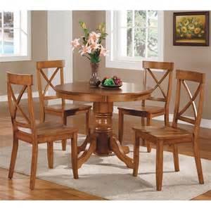 oak dining room set home styles 5 pedestal dining set cottage oak dining table sets at hayneedle
