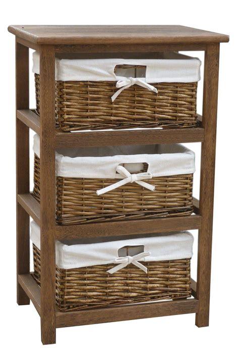 storage cabinets with wicker baskets bentley home wooden storage cabinets with 3 wicker basket