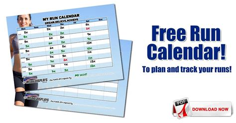 Free calendars are available for dates up to the next month. Free Run Calendar to Plan and Track Your Runs ...