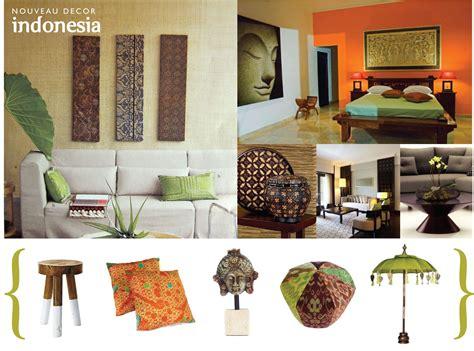 nouveau decor inspired  indonesia indonesian decor