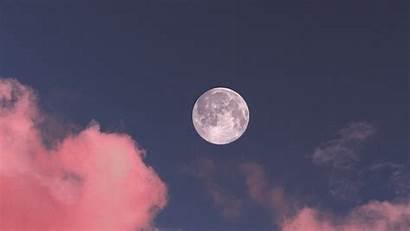 Moon Clouds Sky Tablet Laptop Wallpaperscraft