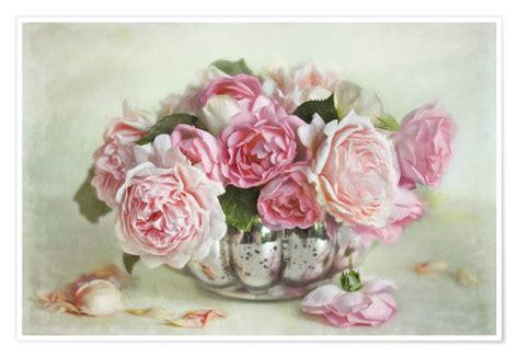 cuadro tris rose shabby rosenbukett poster poster bestellen posterlounge de