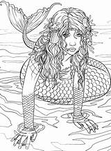 Mermaid Coloring Printable Adult Adults Rocks Mermaids Sheets Colour Fairy Siren Sirens Sea Teens Wonderful Disney Ausmalbilder Mermen Template Turmakbanyoseramik sketch template