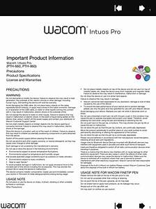Wacom Co Pth660 Pen Tablet User Manual