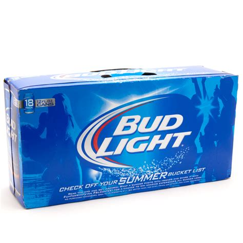 18 pack of bud light price bud light 18 pack cans case beer wine and liquor