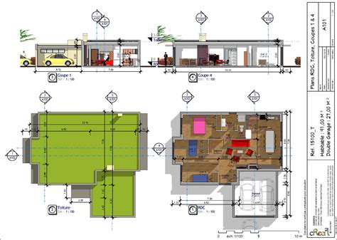bureau pc intégré maison plain pied kel projet