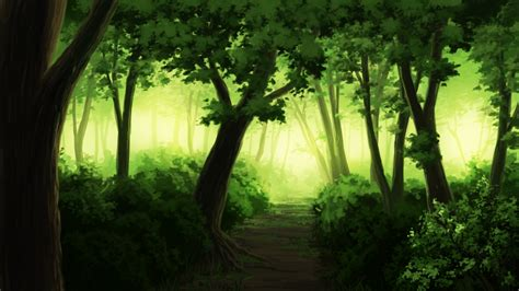 Forest Anime Wallpaper - wallpaper anime landscape forest tree paint