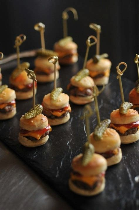 mini canape ideas wedding food canapé ideas these mini burgers