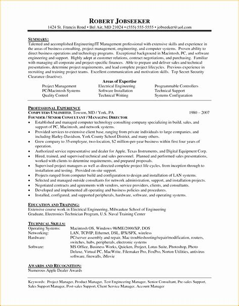 How To Write A Cv Exle by 7 Recruitment Consultant Resume Sle Free Sles