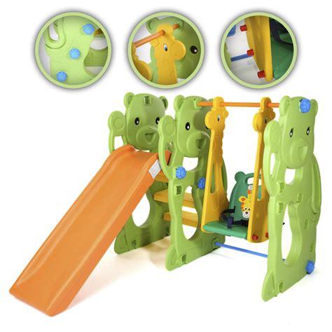 bureau enfants pas cher baby vivo toboggan aire de jeux balançoire pour enfants