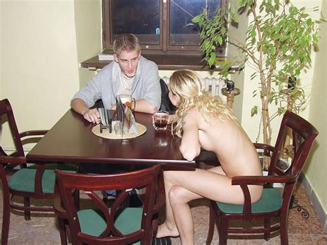 Sexy Barmaid Bar Nudity Pokazuha Table Soccer Trimmed Waitress Porn Pic From Sexy