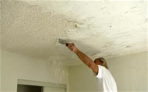remove  popcorn ceiling home inspector tells