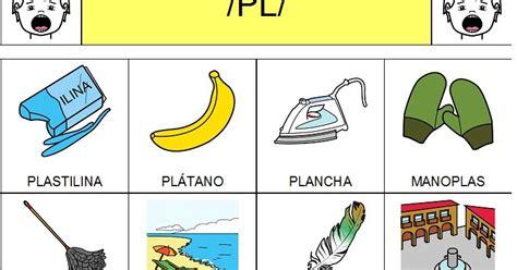 imagenes con pla ple pli plo plu audici 211 n y lenguaje aprende a pronunciar las s 237 labas