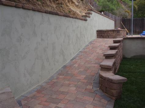Painted Cinder Block Retaining Wall Wwwimgkidcom The