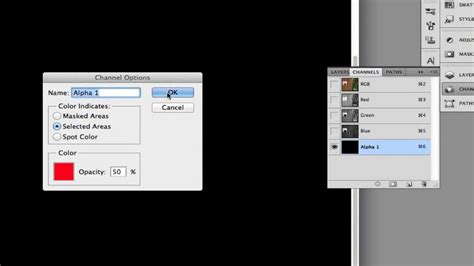 colors channel alpha channel background color options in photoshop
