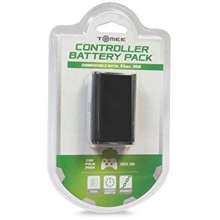 tomee controller battery pack black  microsoft xbox