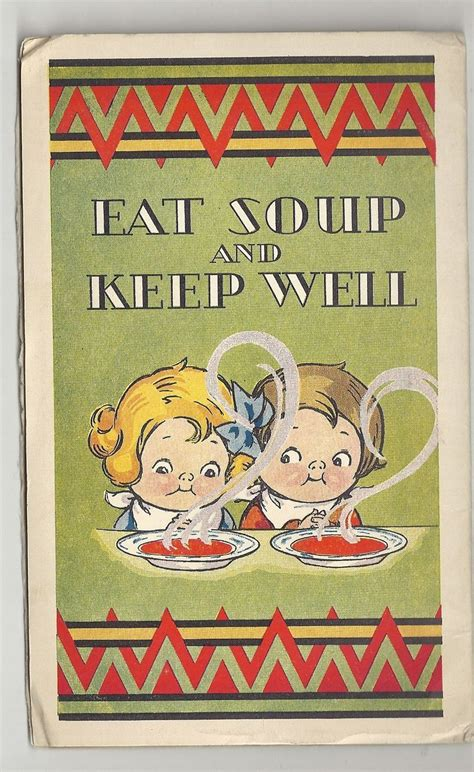 original campbells soup advertising booklet  optimist
