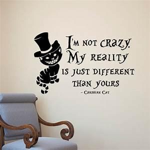 Alice In Wonderland Wall Sticker Cheshire Cat Quotes Vinyl
