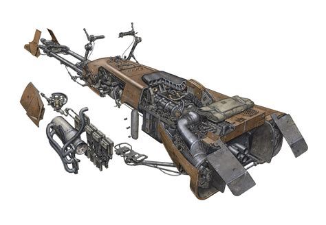 Wars Speeder Car by Wars Speeder Bike Cutaway Drawing In High Quality