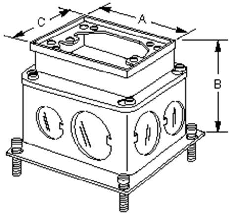 hubbell floor box trims product datasheet b2427