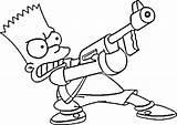 Simpson Coloring Pages Homer Simpsons Ausmalbilder Bart Rapper Nerf Gangsta Drawings Die Gratis Getcolorings Printable Colorin sketch template