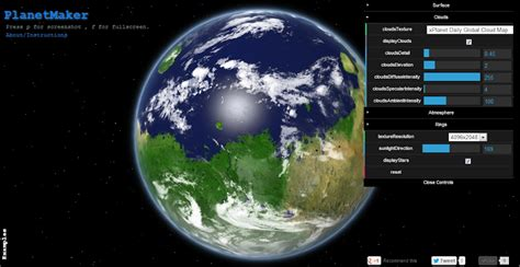 planetmaker by kevin gill experiments with google