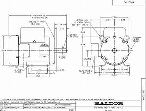 L3608t Baldor Single Phase Enclosured Foot Mounted 5hp