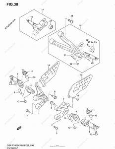 Suzuki Motorcycle 2003 Oem Parts Diagram For Footrest