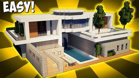 minecraft   build  large modern house tutorial  youtube
