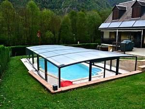 Abri Haut Piscine : poolabri abri piscine mi haut telescopique mixte ~ Premium-room.com Idées de Décoration