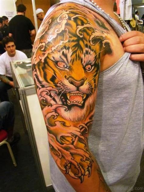 impressive tiger tattoos  shoulder