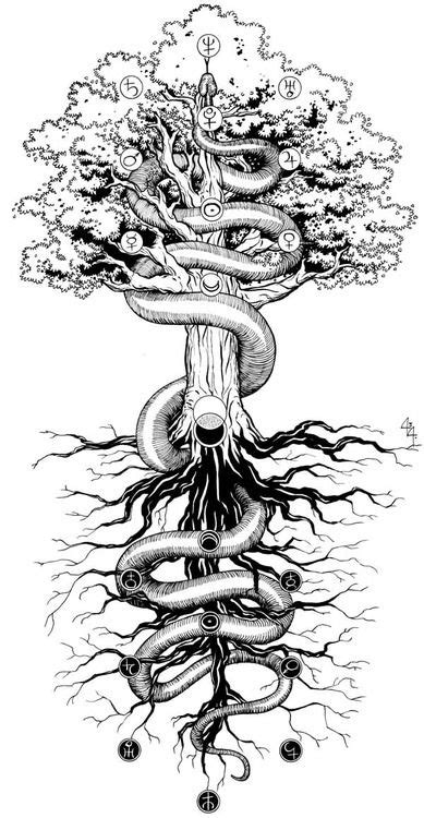 AS ABOVE, SO BELOW. This is awesome. | Alchemy tattoo, Yggdrasil tattoo, Norse tattoo