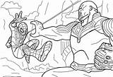 Thanos Pages Spiderman Avengers Coloring Infinity Vs War Marvel Printable Gauntlet Thor Coloringonly Games Cartoon America Categories Nano Coloringgames sketch template