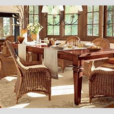 Dining Room Attractive Wicker Dining Room Chairs Indoor