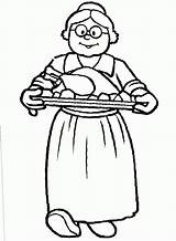 Grandma Coloring Printable Coloringtop Clipart Template Credit Larger sketch template