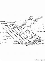 Raft Coloring Drawing Printable Vehicles Addicted Parents sketch template
