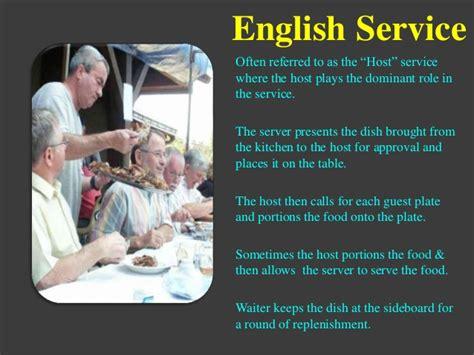 types  food beverage service