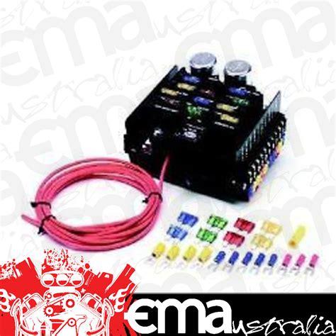 painless wiring 12 circuit universal race pro street fuse block pw50101 painless performance