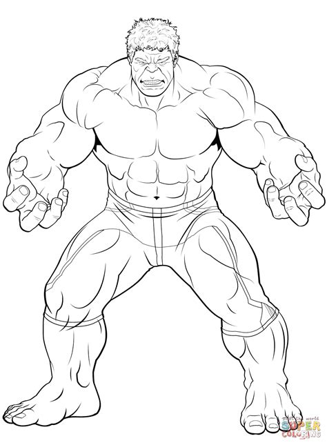 avengers  hulk coloring page  printable coloring