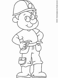 Construction Worker Coloring Pages Coloring Page